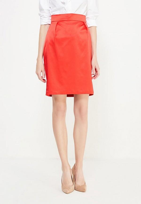 женская прямые юбка ли-лу, красная