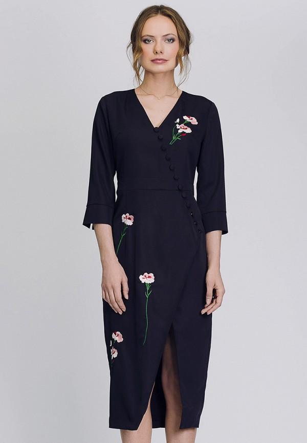 Платье Cavo Cavo MP002XW1AUNW полуприлегающее платье с длинным поясом cavo
