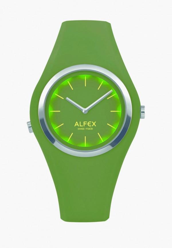 женские часы alfex, зеленые