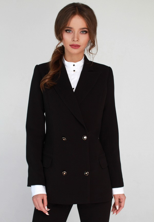 женский пиджак anushka by anna pavlova, черный