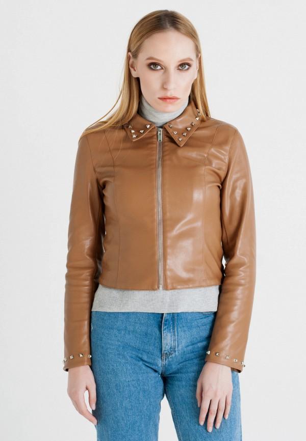 Куртка кожаная UNNA, MP002XW1AXE3, коричневый, Осень-зима 2017/2018  - купить со скидкой