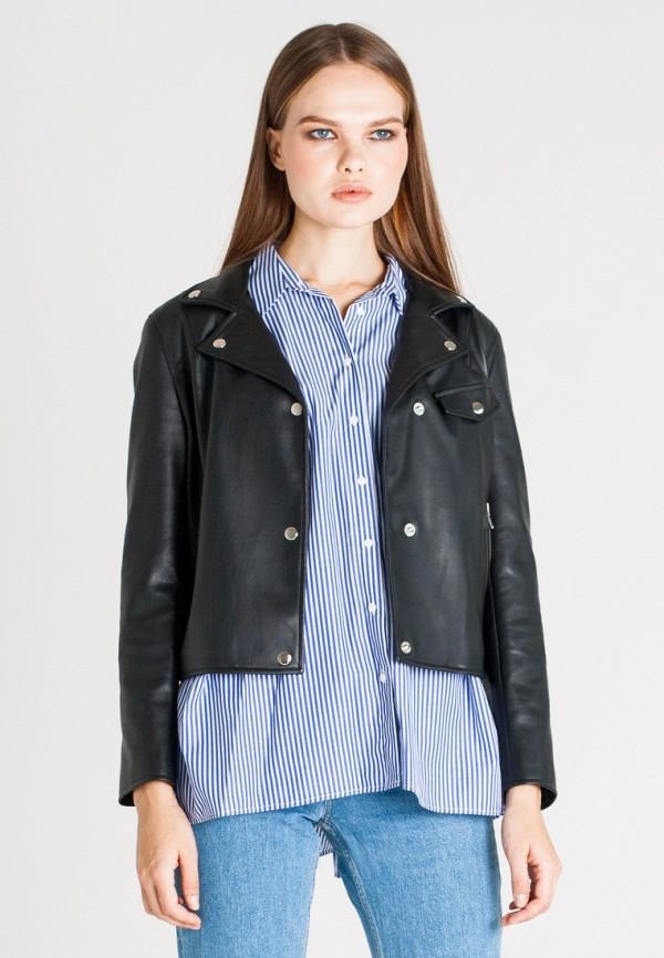 Купить Куртка кожаная UNNA, MP002XW1AXEK, черный, Осень-зима 2017/2018