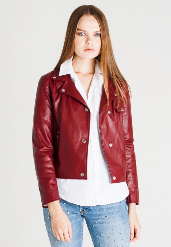 Купить Куртка кожаная UNNA, MP002XW1AXEL, бордовый, Осень-зима 2017/2018