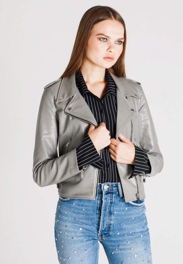 Купить Куртка кожаная Unna, mp002xw1axem, серый, Осень-зима 2018/2019