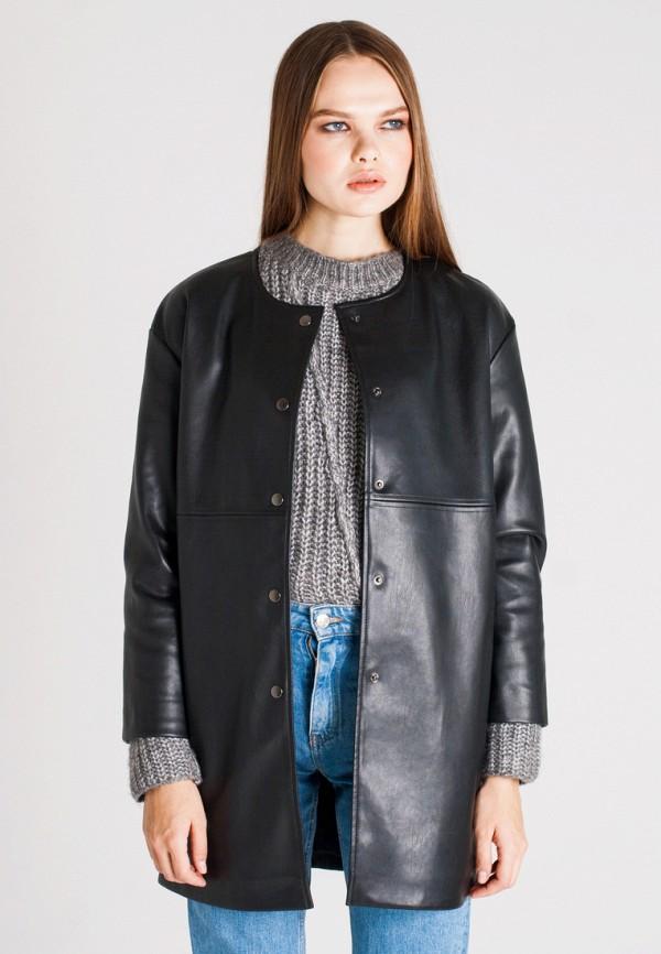Купить Куртка кожаная UNNA, MP002XW1AXES, черный, Осень-зима 2017/2018