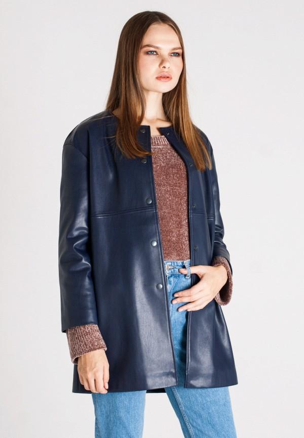 Куртка кожаная UNNA, MP002XW1AXET, синий, Осень-зима 2017/2018  - купить со скидкой
