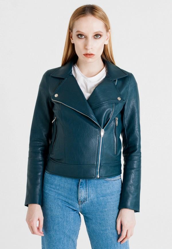 Купить Куртка кожаная UNNA, MP002XW1AXHB, зеленый, Осень-зима 2017/2018