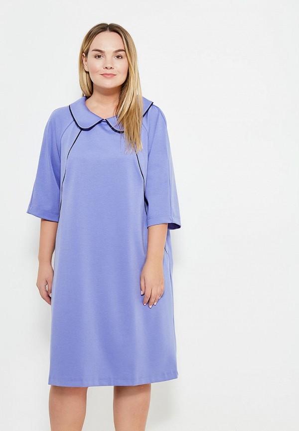 женское платье миди авантюра plus size fashion, фиолетовое