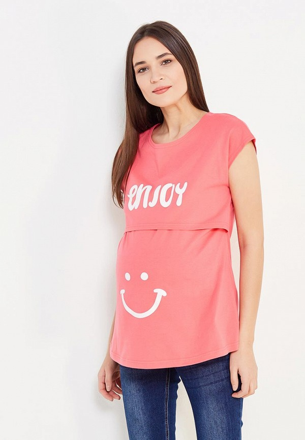 женская футболка с коротким рукавом hunny mammy, розовая