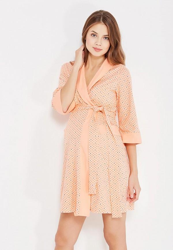 женский халат hunny mammy, оранжевый