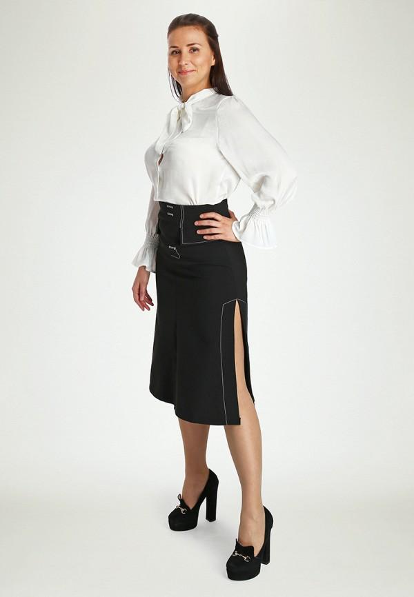 Фото 2 - Женскую юбку Marissimo черного цвета