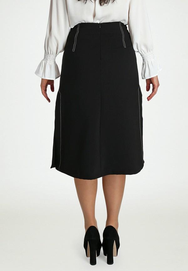 Фото 3 - Женскую юбку Marissimo черного цвета