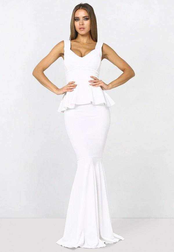 женское платье макси zerkala, белое