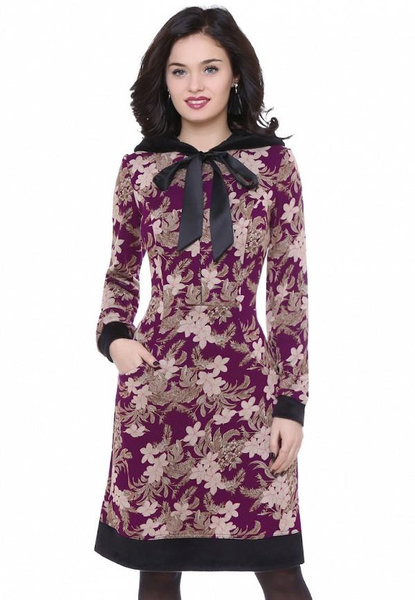 женское платье миди olivegrey, фиолетовое