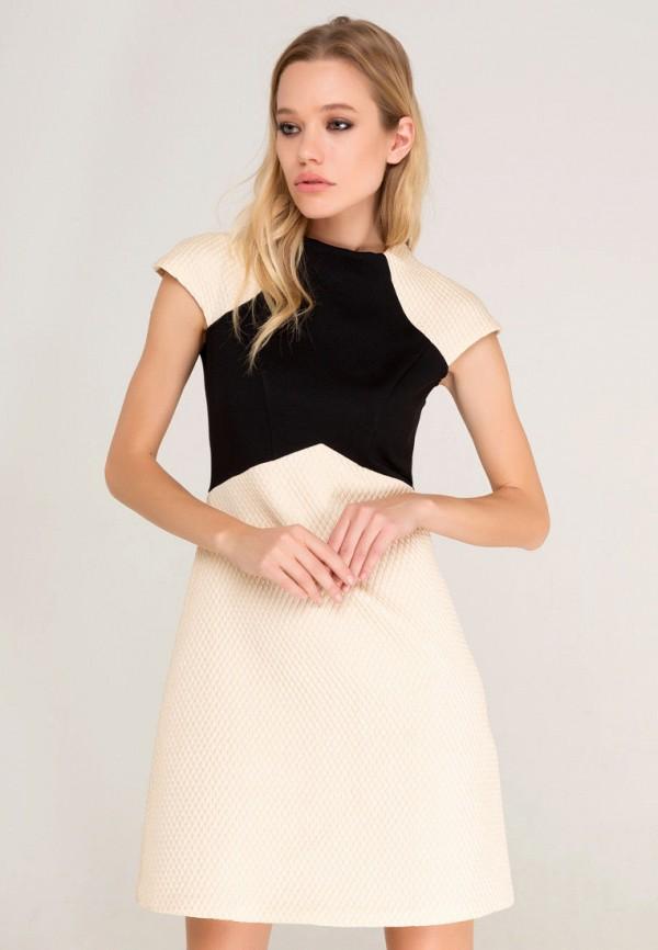 Купить Платье Lezzarine, mp002xw1b2x4, бежевый, Осень-зима 2018/2019
