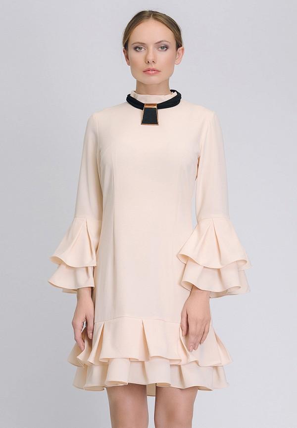 женское вечерние платье cavo, бежевое
