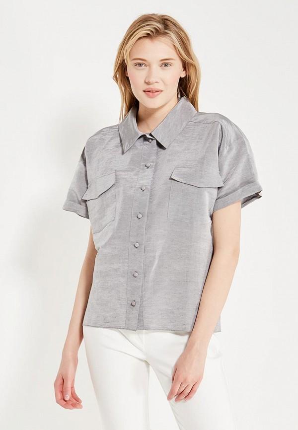 женская рубашка с коротким рукавом laroom, серая
