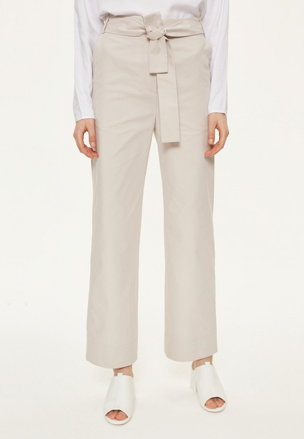 женские брюки клеш base forms, бежевые