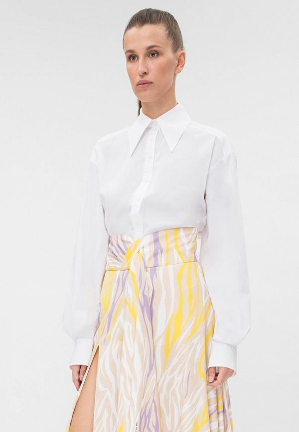 женская рубашка с длинным рукавом dafna may, белая