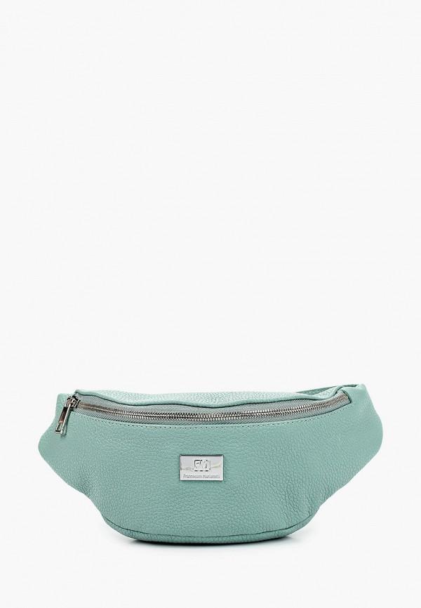 женская поясные сумка franchesco mariscotti, зеленая