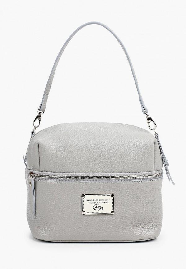 женская сумка с ручками franchesco mariscotti, серая