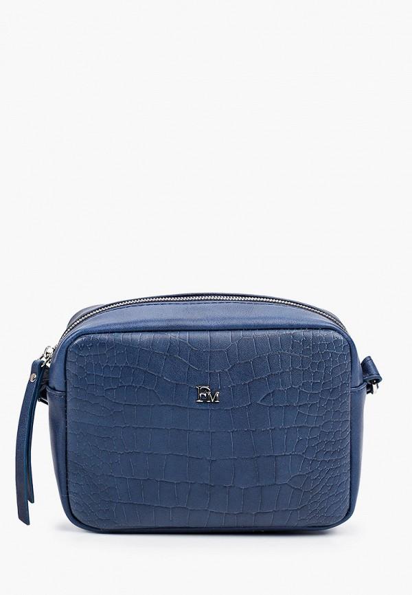 женская сумка через плечо franchesco mariscotti, синяя