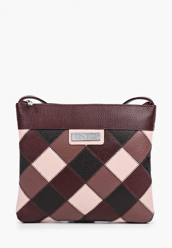 женская сумка через плечо franchesco mariscotti, коричневая
