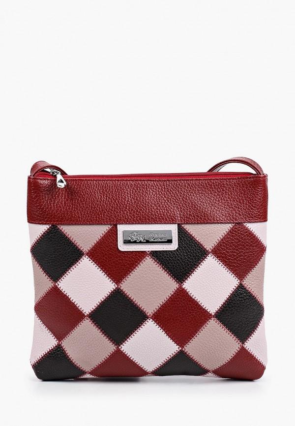 женская сумка через плечо franchesco mariscotti, бордовая