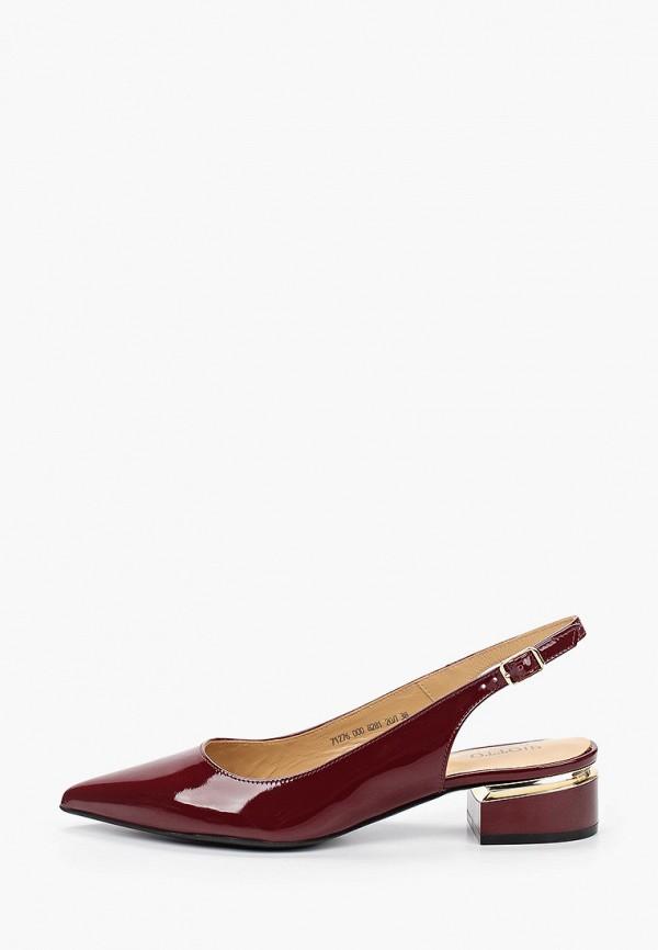 женские туфли giotto, бордовые