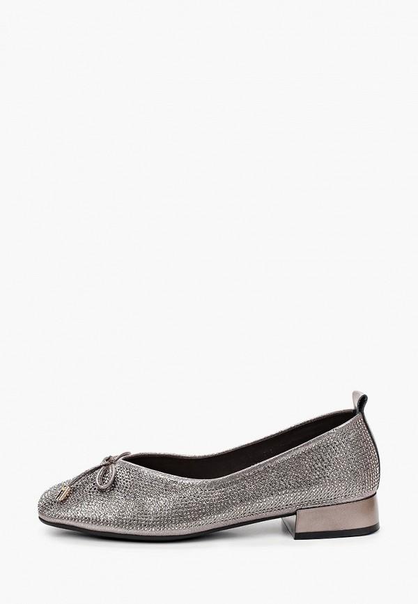 женские туфли с закрытым носом berkonty, серебряные