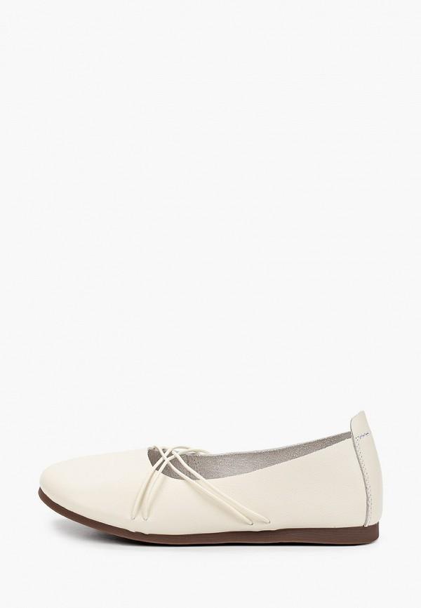 женские туфли с закрытым носом berkonty, белые