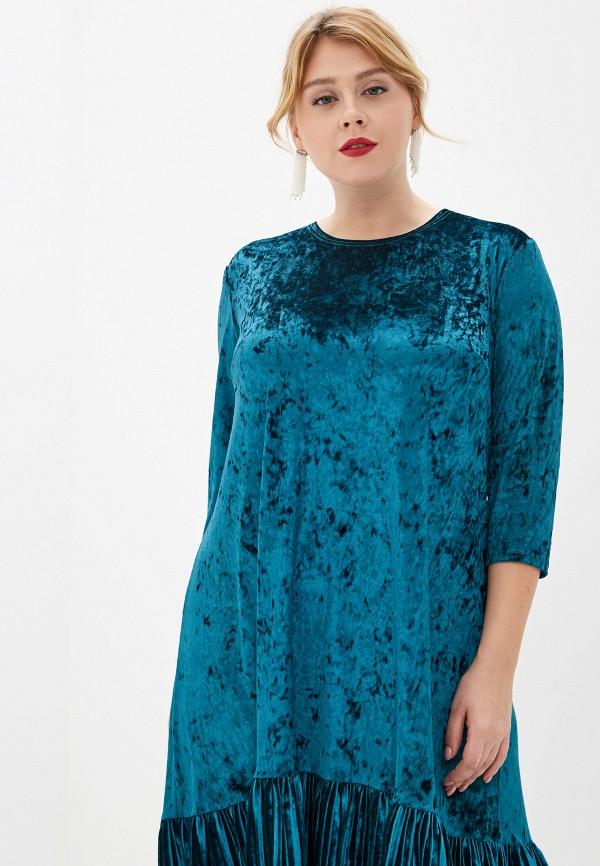 женское платье aelite, бирюзовое