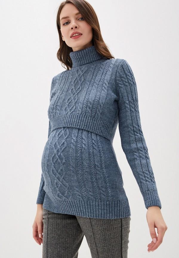 женский свитер i love mum, голубой