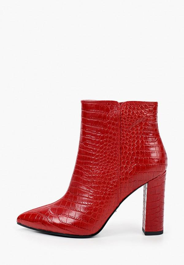 женские высокие ботильоны vitacci, красные