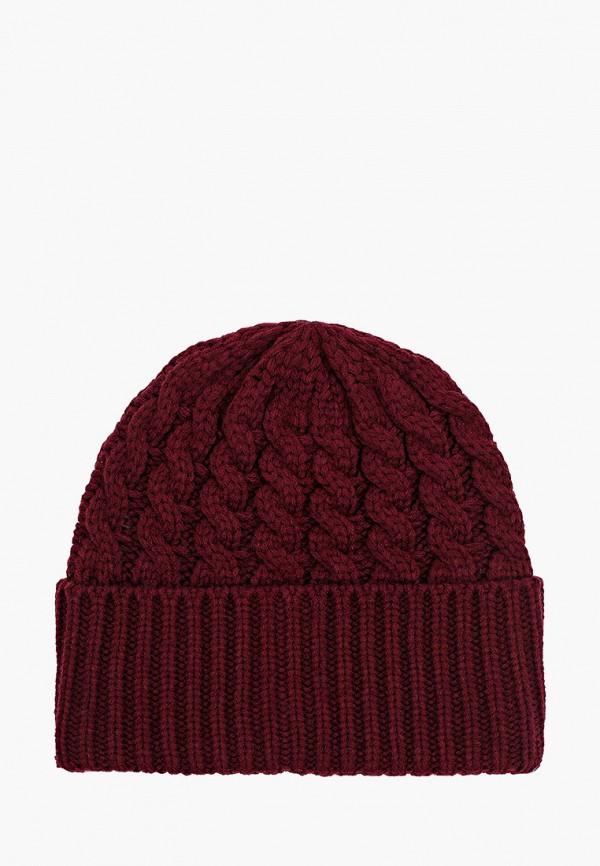 женская шапка vitacci, бордовая