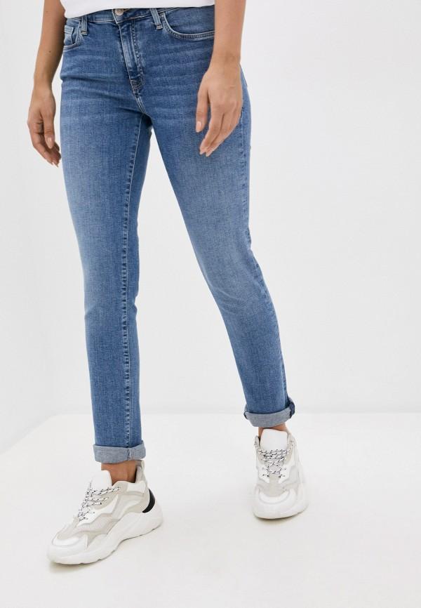 женские джинсы скинни mavi, синие