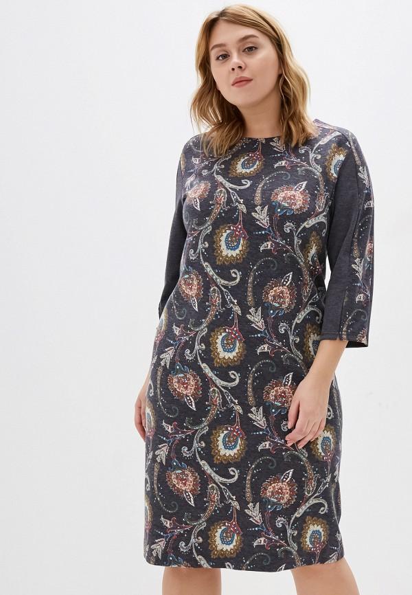 женское платье космея, серое
