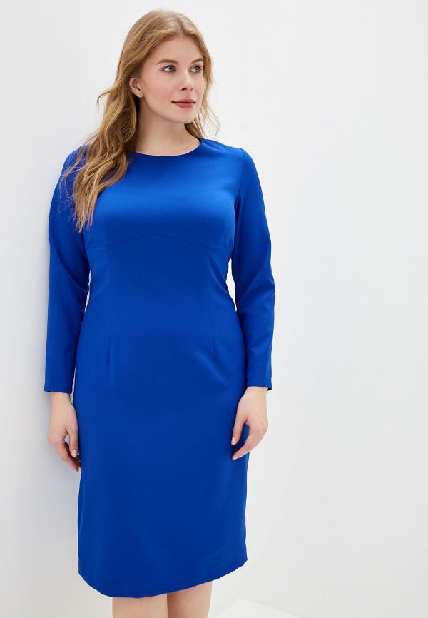 женское платье космея, синее
