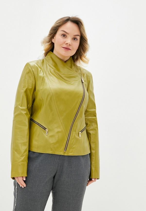 женская кожаные куртка le monique, хаки
