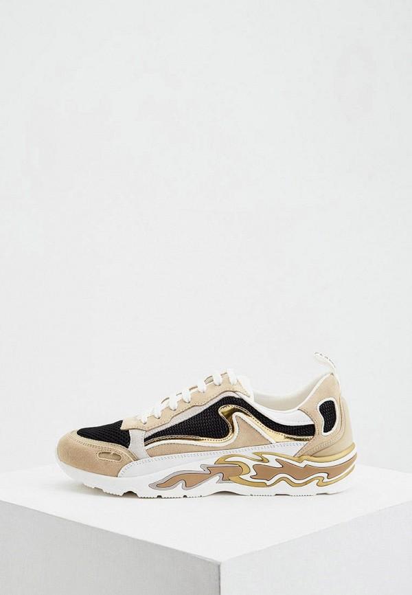 женские кроссовки sandro, бежевые