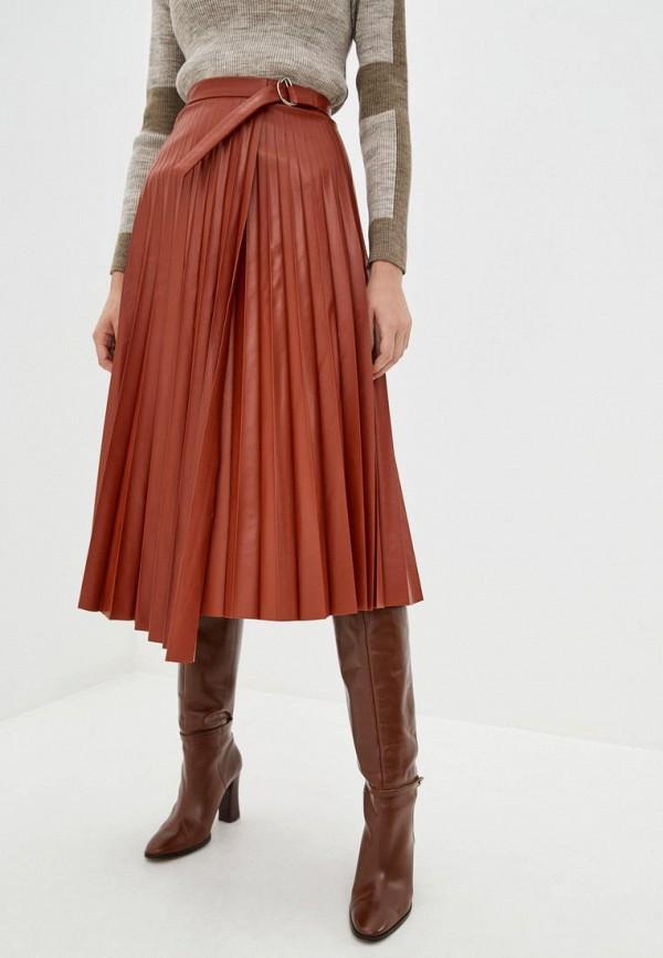 женская юбка jhiva, коричневая