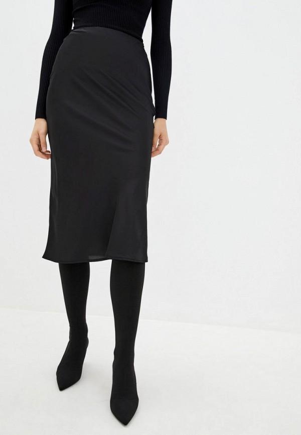 женская зауженные юбка jhiva, черная
