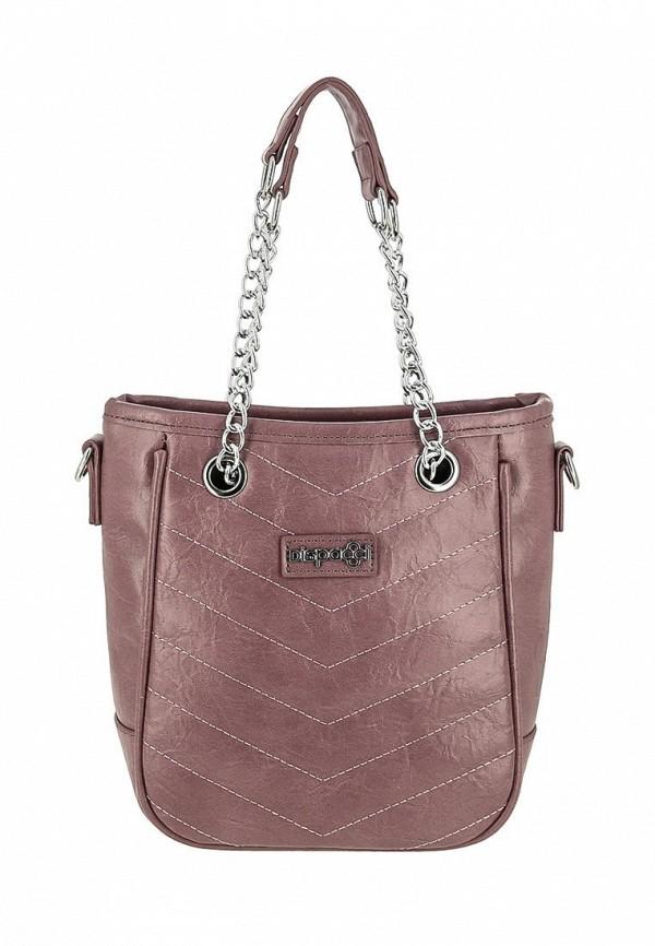 женская сумка dispacci, розовая