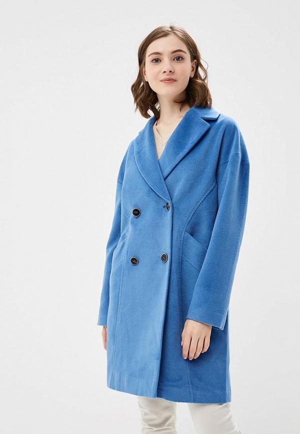 женское пальто la reine blanche, голубое