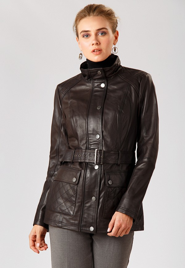 Куртка кожаная Finn Flare, MP002XW1CRUC, коричневый, Осень-зима 2018/2019  - купить со скидкой
