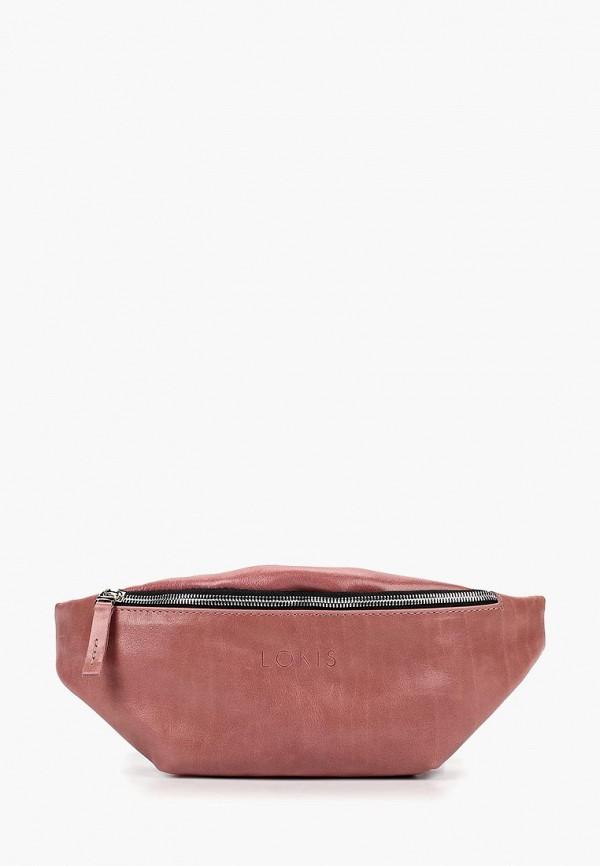 женская сумка lokis, розовая