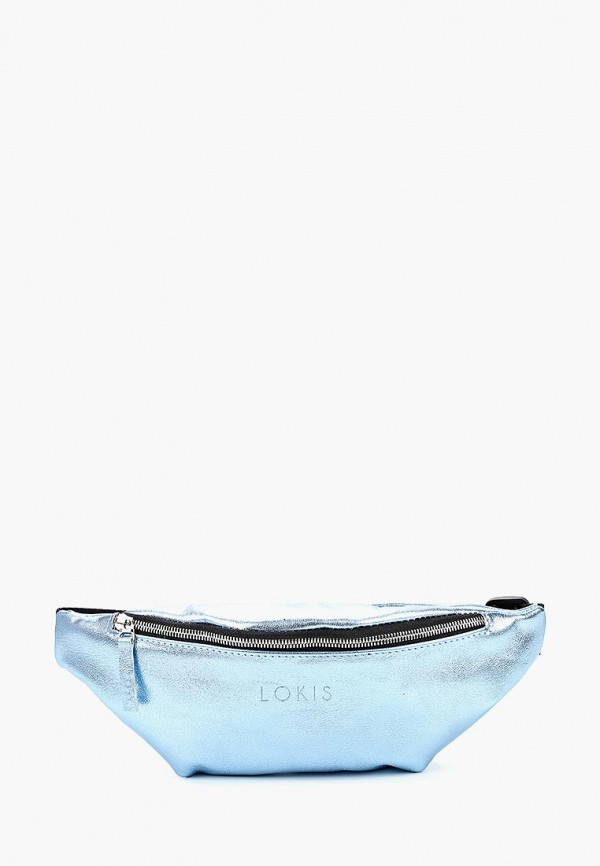 женская сумка lokis, голубая