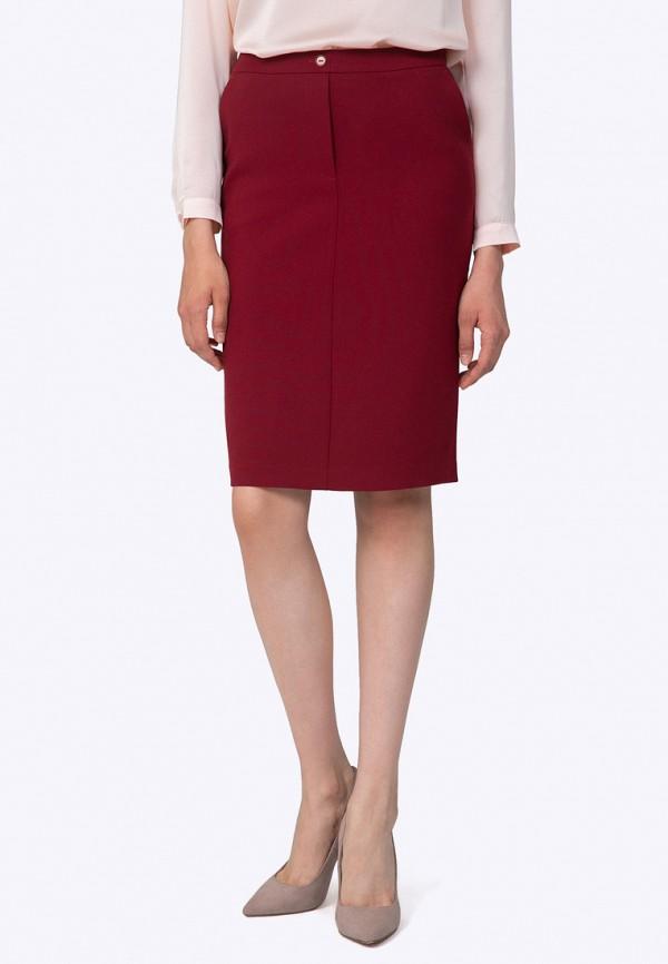 женская зауженные юбка emka, бордовая