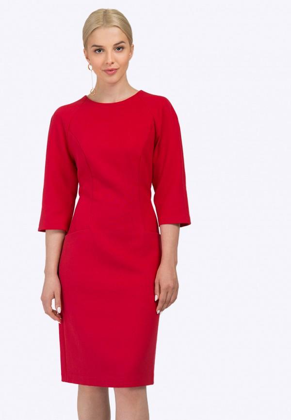 женское платье миди emka, красное