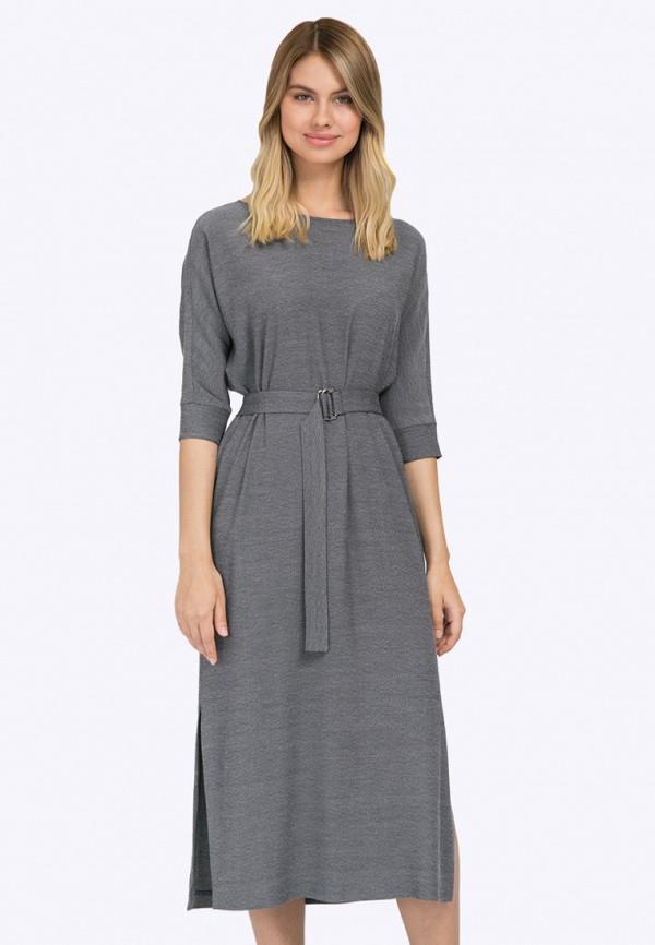 женское повседневные платье emka, серое